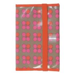 Housse de carnet de santé fleur Basque rose