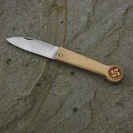 Couteau Basque à ressort manche en buis