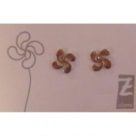 Boucle d'oreille croix Basque en argent